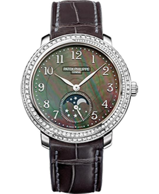 Patek Philippe 18k White Gold Diamond Leather 33,3mm