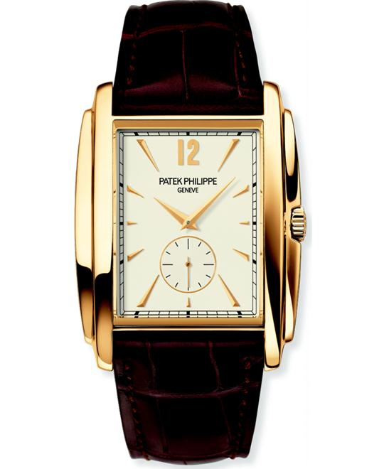 Patek Philippe 18k Yellow Gold Mens Brown Leather 33.4mm x 43mm