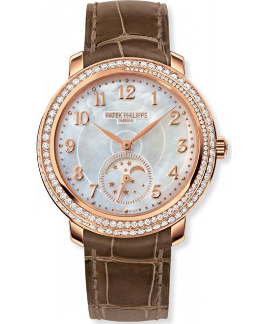 Patek Philippe Ladies' 18k Rose Gold Diamond Leather 33.3mm