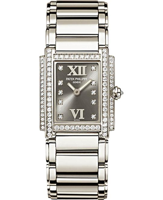 Patek Philippe Ladies' 18k White Gold Quartz 22mm x 26.3mm