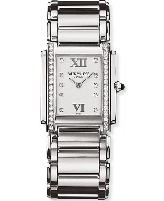 Patek Philippe Ladies Stainless Steel Diamonds 25mm x 30mm