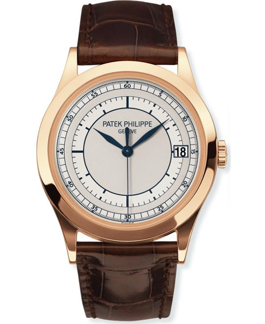 Patek Philippe Men's 18k Rose Gold Brown Leather 38mm
