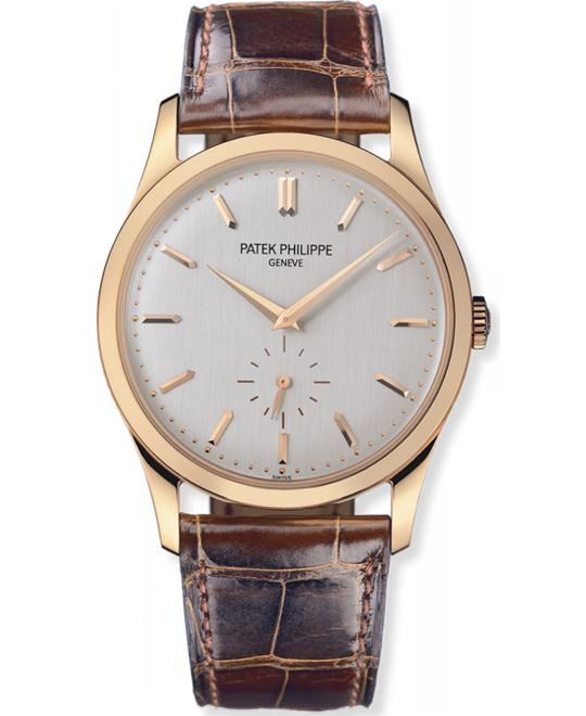 Patek Philippe Men's 18k Rose Gold Calatrava Leather 37mm