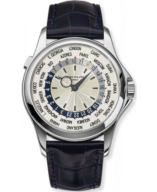 Patek Philippe Men's 18k White Gold  Automatic Leather 39,5mm