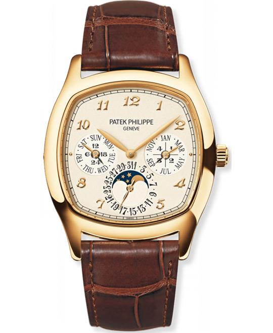Patek Philippe Men's 18k Yellow Gold Leather 37mm x 44.6mm