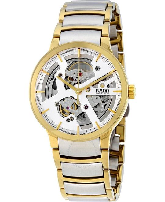 RADO Centrix Automatic Silver Skeleton Dial Men's Watch 38mm
