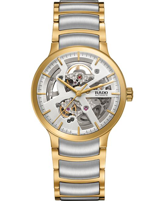 RADO Centrix Automatic Silver Skeleton Watch 38mm
