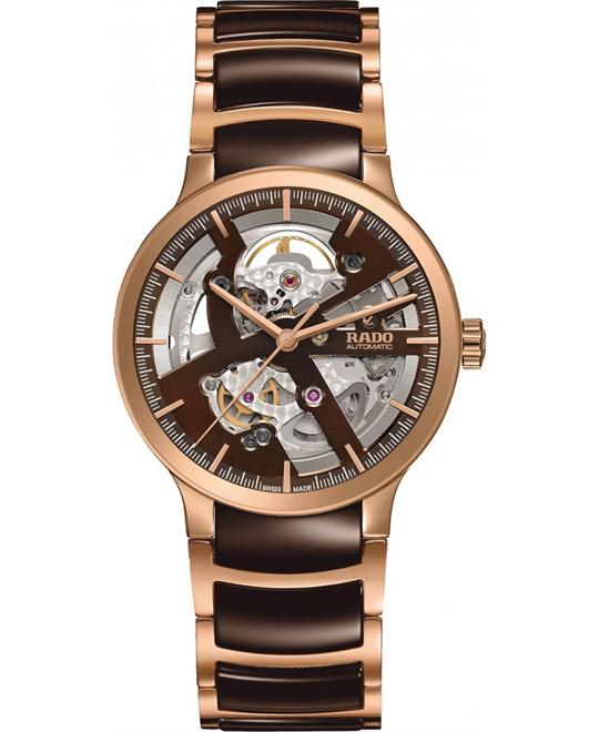 RADO Centrix Brown Skeleton Automatic Watch 38mm