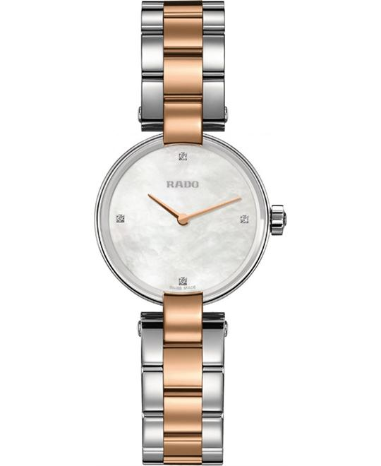 RADO Coupolse Mother of Pearl Diamond Watch 27mm
