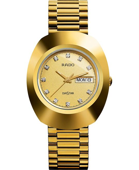 RADO Diastar All Gold Tone Watch 35mm