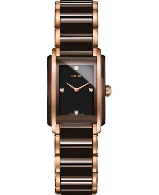 đồng hồ RADO Integral Black Diamond Dial Watch 22.7x33.1mm