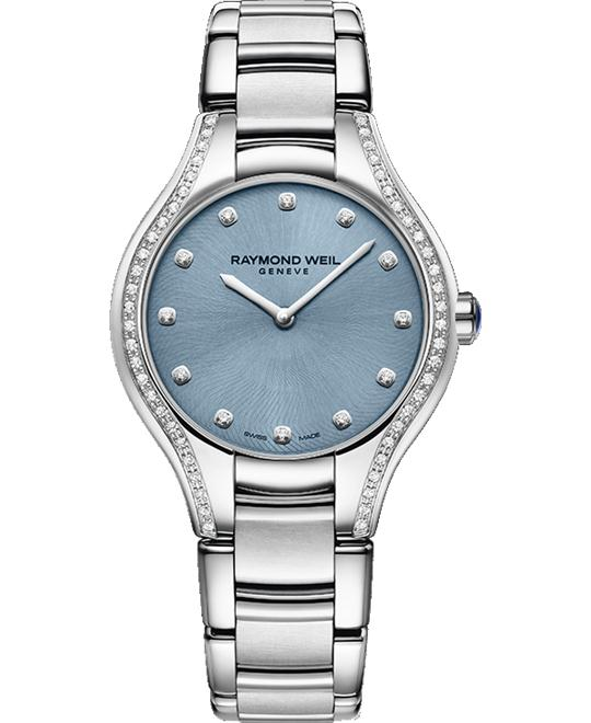 RAYMOND WEIL Noemia Blue Diamond Watch 32mm
