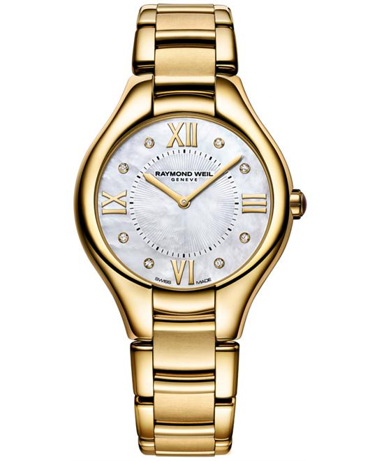 Raymond Weil Noemia Gold PVD Watch 36mm