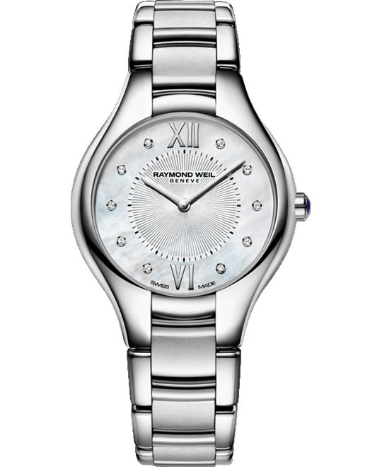 RAYMOND WEIL Noemia Mother of Pearl Diamond Watch 32mm