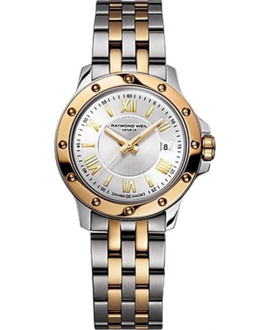 Raymond Weil Tango 18k Gold Watch 28mm