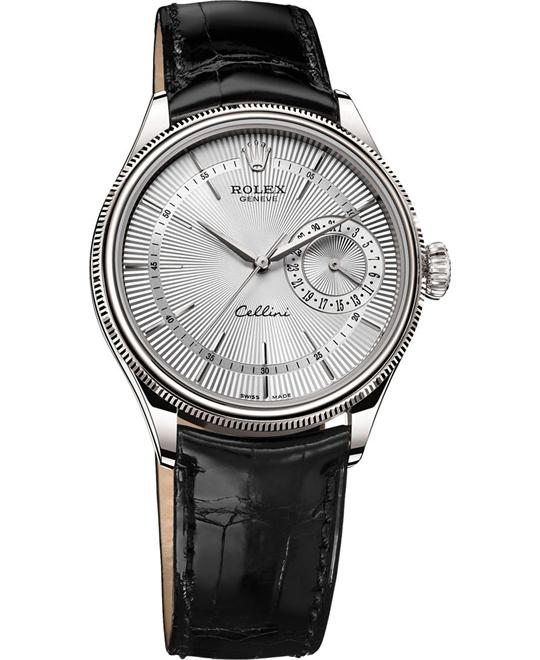 ROLEX Cellini Date 50519-0006 18K White Watch 39mm