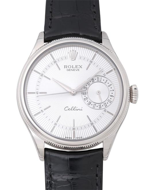 ROLEX Cellini Date 50519 18K White Men's Watch 39mm