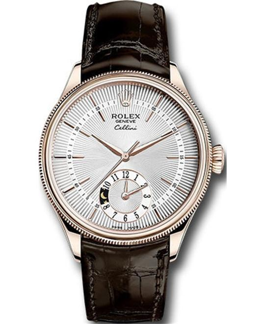 Rolex CELLINI DUAL TIME 50525-0008 WATCH 39MM