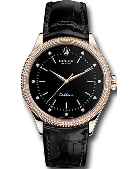 ROLEX CELLINI TIME 50605rbr-0014 18CT EVEROSE 39MM