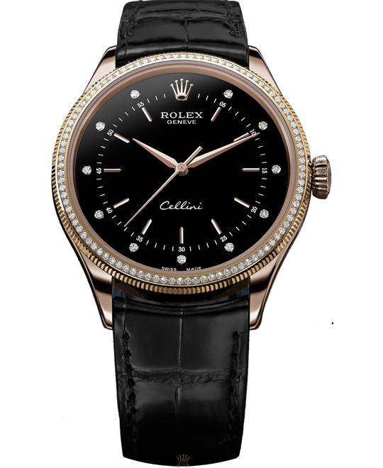 ROLEX CELLINI TIME 50605RBR 18CT EVEROSE 39MM