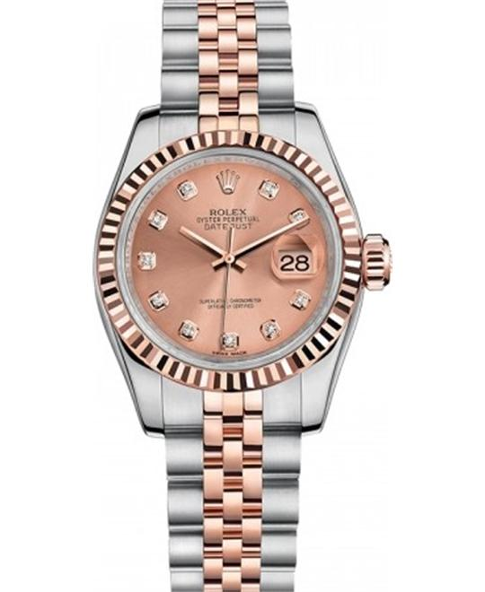 đồng hồ ROLEX Datejust 179171 Automatic 18kt Rose Ladies Watch 26mm