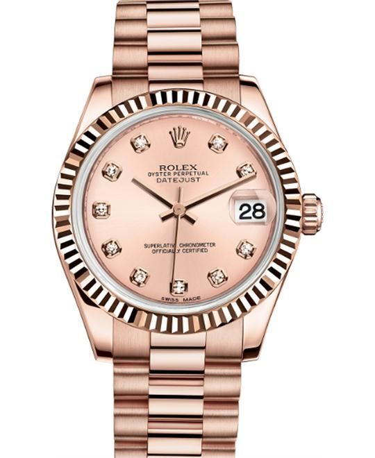 Rolex DATEJUST Oyster 178275 Everose Watch 31mm