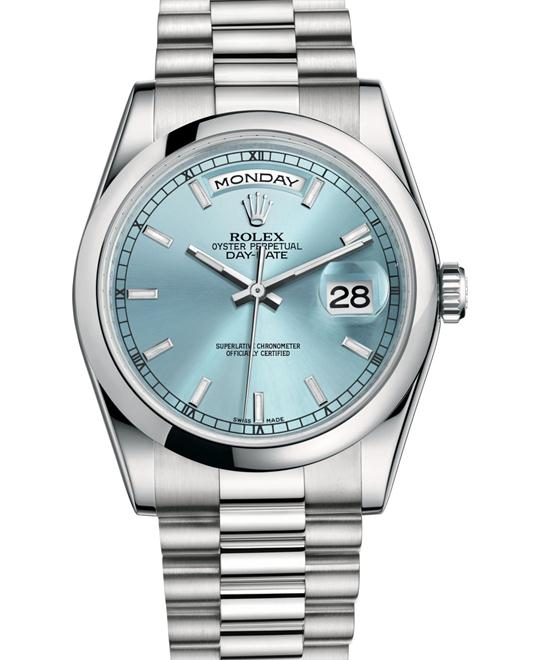 ROLEX DAY-DATE 118206 Oyster Platinum 36mm