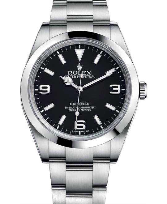 ROLEX Explorer 214270 Oyster Domed Men's Watch 39mm