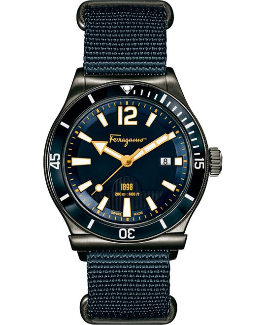Salvatore Ferragamo FF3210015 1898 Sport Blue Watch 43mm