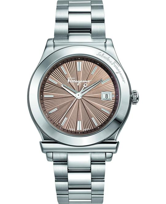 Salvatore Ferragamo 1898 Mink Sunray Watch 33mm