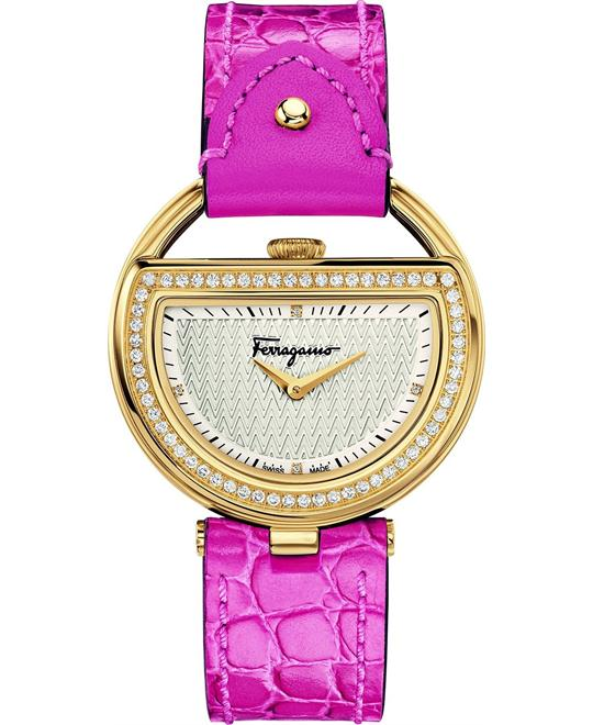 Salvatore Ferragamo Buckle Diamond Watch 37mm