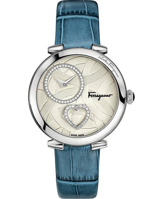 Salvatore Ferragamo Cuore Diamond Blue Women's Watch 39mm