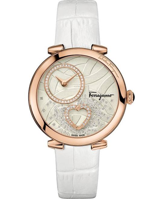 Salvatore Ferragamo Cuore Diamond White Women's Watch 39mm