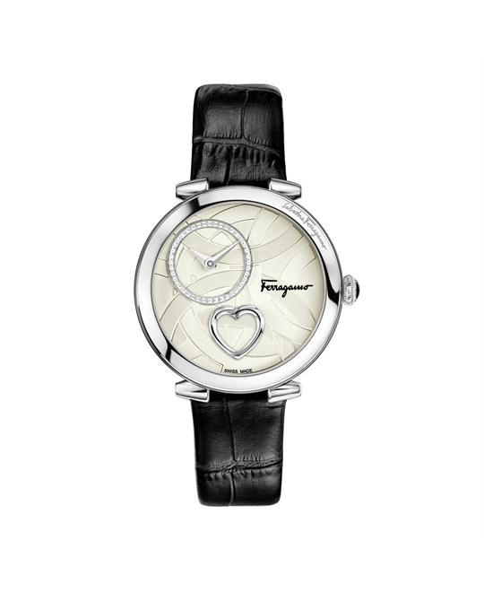 Salvatore Ferragamo Cuore Steel Black Women's Watch 39mm