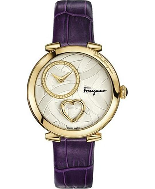 Salvatore Ferragamo FE2090016 Cuore Violet Watch 39mm