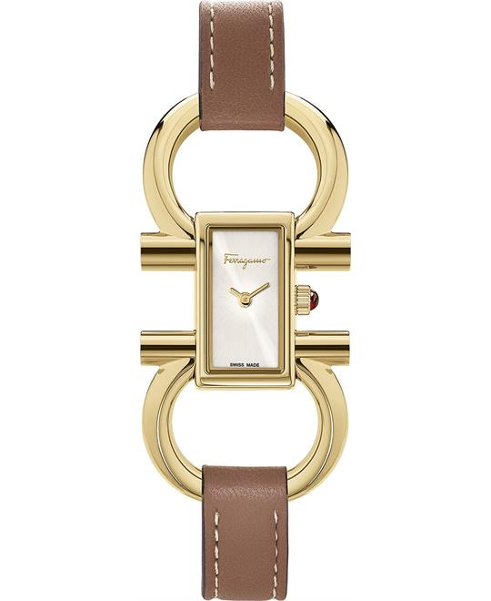 Salvatore Ferragamo Double Gancini Watch 14x23mm
