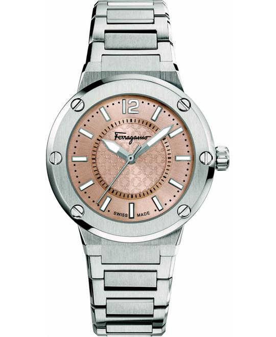 Salvatore Ferragamo FIG030015  F-80 Quartz Silver 33mm
