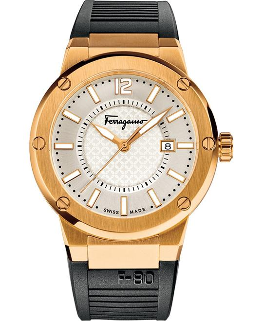 Salvatore Ferragamo FIF020015  F-80 Quartz Watch 44mm