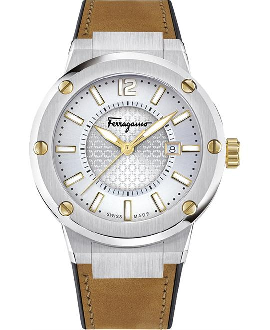 Salvatore Ferragamo FIF080016 F-80 Swiss Watch 44mm