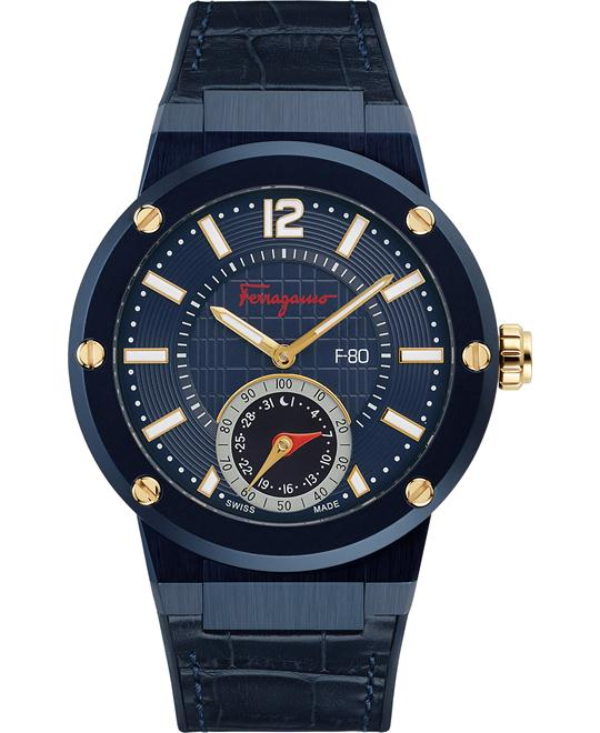 Salvatore Ferragamo FAZ010016 F-80 Swiss Watch 44mm