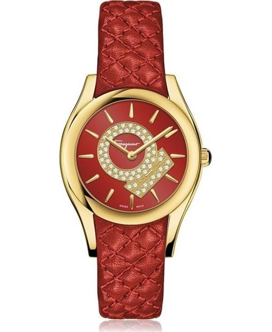 Salvatore Ferragamo FG4070014  Lirica Quartz Red 33mm