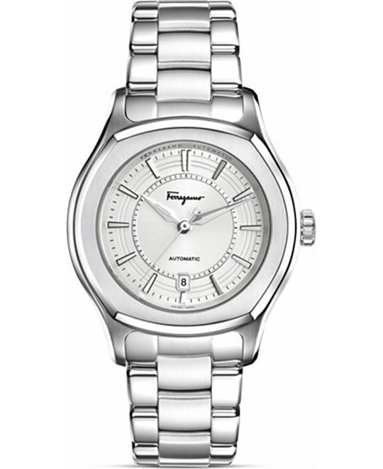 Salvatore Ferragamo Lungarno Silver Dial Watch 44mm