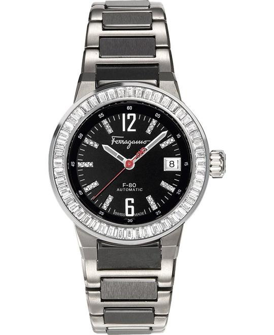 Salvatore Ferragamo F-80 Automatic Diamond Men's Watch 38mm