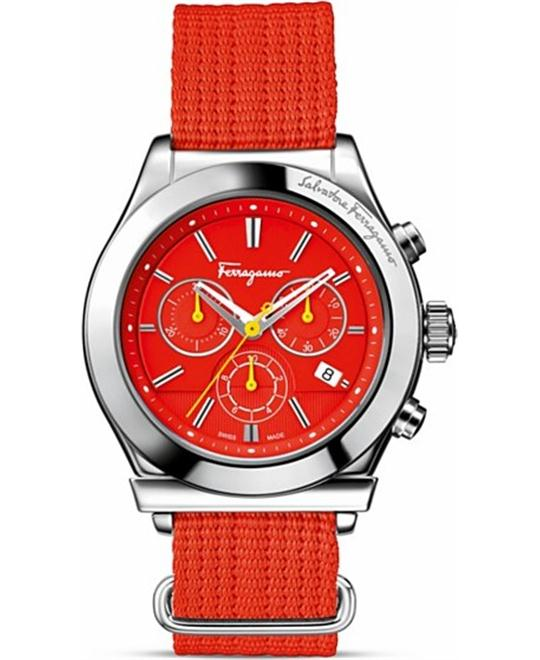 Salvatore Ferragamo FF3040013  1898 Red Canvas 42mm