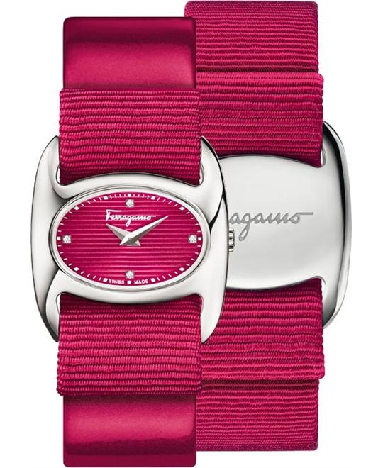 Salvatore Ferragamo FIE010015 Varina Fucshia Watch 26mm