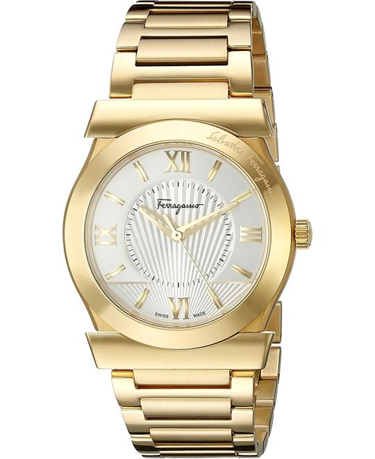 Salvatore Ferragamo FI0920015 VEGA Gold Watch 38mm