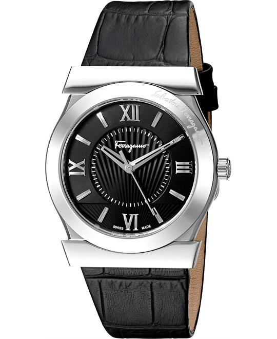 Salvatore Ferragamo VEGA Quartz Black Watch 38mm