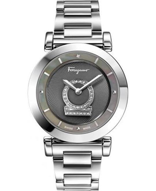 Salvatore Ferragamo Women's  Minuetto Diamond-Accented Watch 36mm