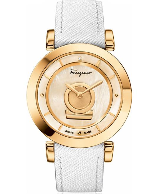 Salvatore Ferragamo FQ4030013 Minuetto Gold Ion-Plated 36mm