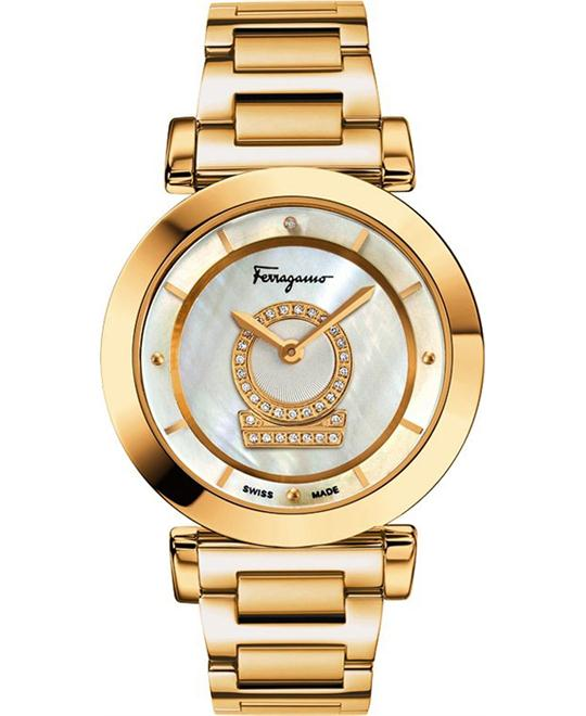 Salvatore Ferragamo Women's Minuetto Gold-Plated Watch 36mm